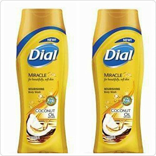Dial Coconut Oil Nourishing Body Wash 16 Oz (Pack of 2) by Dial