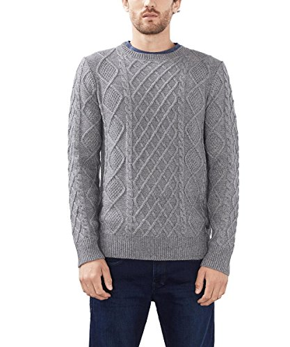 ESPRIT Collection Herren Pullover Grau (grey 030)