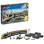 LEGO CityTrains TrenoPasseggeri, Motore Alimentato a Batteria,Connessione RemotaBluetooth,Binari e Accessori, 60197 LEGO