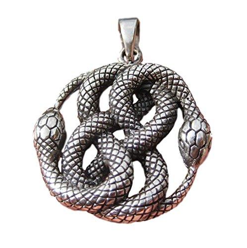 Himalayan Treasures 925 Silber Schlange Anhänger Halskette Thailand Schmuck Kunst A30