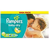 Pampers Baby Dry Nappies Size 4 Giga Pack 120 (Size 4 (7-18kg/15-40lbs))