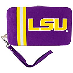 NCAA Louisiana State Fightin Tigers Shell Wristlet, 3.5 x 0.5 x 6-Inch, Purple