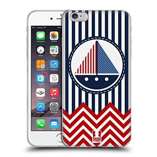 Head Case Designs Faro Chevron Nautiche Cover Morbida In Gel Per Apple iPhone 7 Plus / 8 Plus Barca