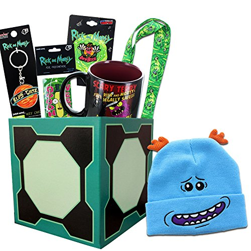 Rick and Morty Gift Box with Embroidered Beanie, Exclusive Pin & More