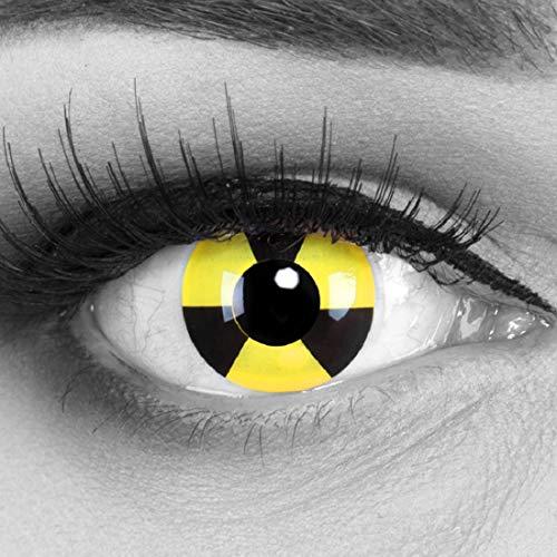 (Meralens mehrfarbige Kontaktlinsen, Radiate mit Pflegemittel ohne Stärke, 1er Pack (1 x 2 Stück))