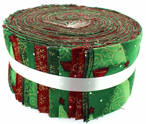 Stoff Freiheit unter den Weihnachtsbaum Freiheit Rolle, 100% Baumwolle, mehrfarbig, 13x 13x 7cm