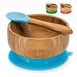 Baby Breischale, Bambusschüssel mit Saugnapf - Brei-Schüssel Bambus Schale