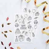 Aufkleber zum Ausmalen für Erwachsene mit Geburtstag Mustern, 2 Blätter