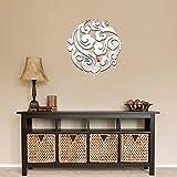 Kolylong Acrylic stereoscopic 3D clouds Living Room Wall Sticker Wall Art Decor (Silver)
