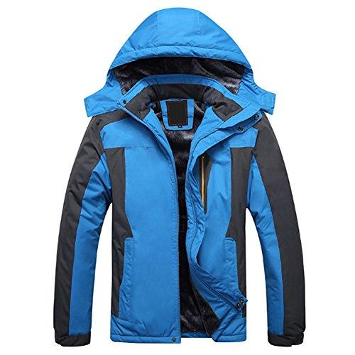 Deylaying Männer Dick Mäntel Draussen Winddicht Ski Jagd Klettern Schneeanzug Jacke Oberbekleidung Plus Größe - Schneeanzug Oberbekleidung