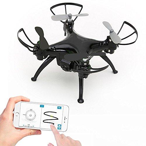 ANKOUJA MINI Drohne mit Kamera live Übertragung für Kinder App Tack-Controlled RC Quadrocopter Quad Copter 720P WiFi Kamera, Gyro Gravity Sensor, Kopfloser Modus 3D Flips, One-Key Return 2x Akku, 4x Propeller Erstatz