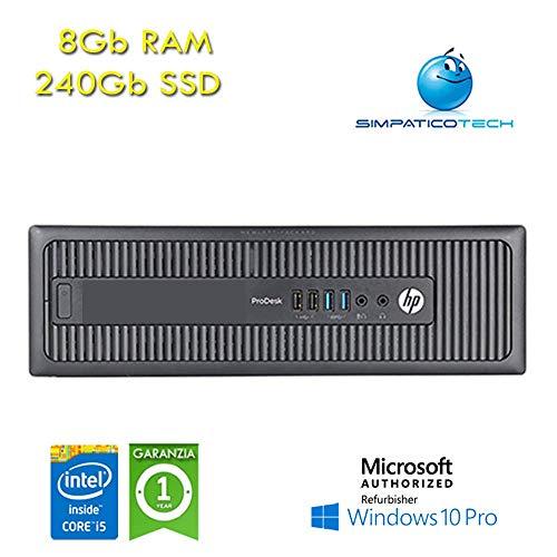 HP ProDesk 600 G1 SFF Core i5-4570 3.2GHz 8Gb 240 Gb SSD Windows 10 Professional mit neuem Simpaticotech MAR Microsoft Authorized (Ricondiation). (Pro Desktop 600 Hp)