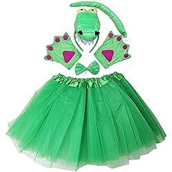 Kireisui Kirei Sui Kids Animal Costume Face Headband Bowtie Tail Tutu Paws Set