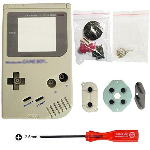 iMinker Full Gehäuse Shell Pack Fall Deckung Ersatzteile mit offenen Tools für Nintendo Gameboy GB Konsole (Grau) (Gehäuse Pack)