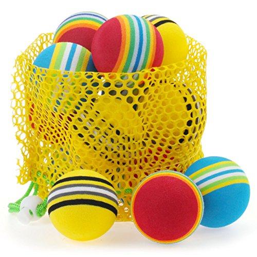 Chiwava Schaumstoffb_lle Katzenspielzeug, 4,6cm, weich, Regenbogenfarben, bunter Mix