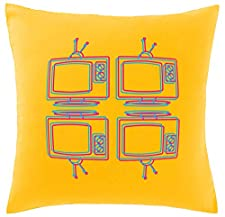 Hippowarehouse Retro tv Printed bedroom accessory cushion cover case 41x41cm