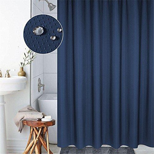 himmel & Wasserdicht 100% Polyester Badezimmer Duschvorhang mit verstärktem Saum, mit Haken 120/150/180/200 x 200cm, Grau/Blau (200x200cm, Blau) ()