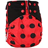 BEESCLOVER Washable Reusable Printed Dipper Pants Breathable Leakproof Nappy Size Can Be Adjusted A26