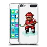 Head Case Designs Offizielle Oilikki Bär Hockey Tiere Soft Gel Hülle für Apple iPod Touch 6G 6th Gen
