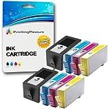 Printing Pleasure 8 Tintenpatronen kompatibel zu HP 920XL mit Chip für HP Officejet 6000 6500 6500A 7000 7500A - Schwarz/Cyan/Magenta/Gelb, hohe Kapazität
