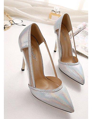 WSS 2016 Chaussures Femme-Décontracté-Argent / Fuchsia-Talon Aiguille-Talons-Chaussures à Talons-Polyuréthane silver-us7.5 / eu38 / uk5.5 / cn38