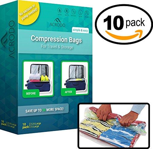 acrodo ahorro de espacio vacío de bolsas–Paquete de 10unidade