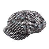 72f64228fb YanHoo Cappelli Cappello in maglia di lana scozzese,Baseball beretto da uomo,  unisex vintage