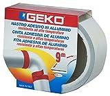 Geko - Nastro adesivo in alluminio, alta temperatura, 40 mmx9m, Nero, 14 pz.