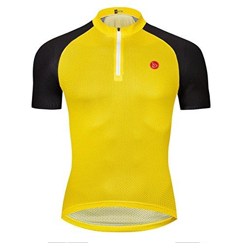 logas Mens-Sommer-Radtrikot mit Kurzen Ärmeln Multicolor-T-Shirts Breath für Klettern, Laufen und Radfahren