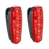YMXLJJ Fanale Posteriore Per Bici A LED/Faro Anteriore Ricarica USB 3 Modalità Di Illuminazione Equipaggiamento Di Guida Applicabile Al Braccio/Casco/Spia Di Sicurezza Protezione Zaino,Red,B