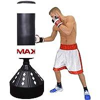 Max Strength MAXSTRENGH - Saco de boxeo o boxeo de pie (180 cm, artes marciales, equipo de fitness, MMA), color negro