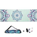 BAIF Naturkautschuk-Yogamatte, rutschfeste Übungsmatte für Anfänger, tragbare Fitnessmatte für Männer und Frauen, 183 * 61 cm, E