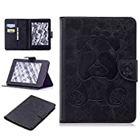 DENDICO Kindle Paperwhite Leather Flip Notebook Style Case e-Book Reader Cover [Stand Function] [Magnetic Closure] [Card Slots] Slim WeightLight Protective Case for Amazon Kindle Paperwhite - Black