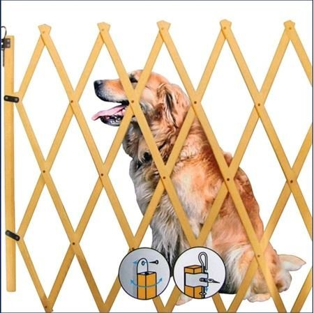 Spetebo Barrera de Seguridad para escaleras Extensible hasta 108cm-Altura Aprox. 85cm-Perros Rejilla...