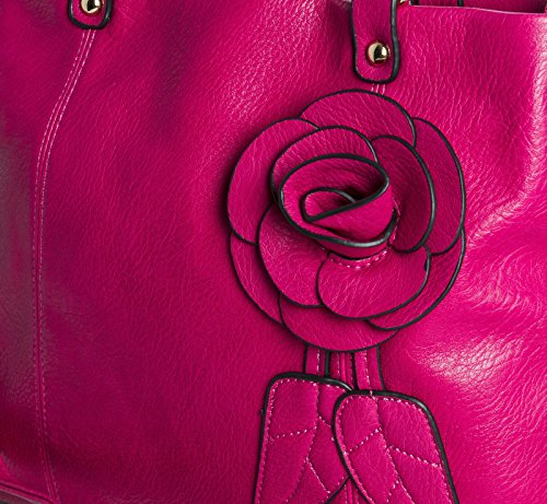 Big Handbag Shop, Borsa a spalla donna One Red