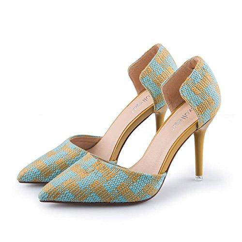 Automne, Dame, Pointu, Chaussures Décolletées / Talons Hauts, Talons Minces, Chaussures Nues B