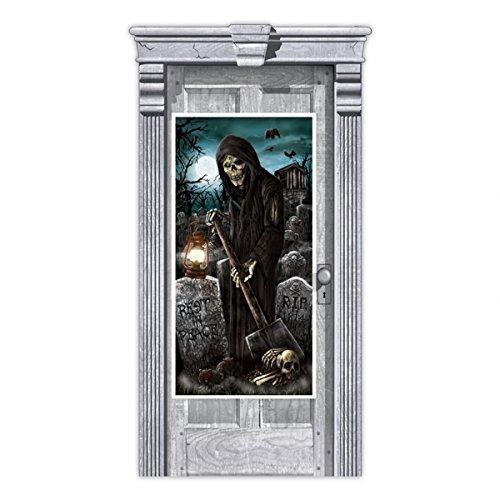 Amscan Geisterhaus Grim Reaper Scene Setter Tür Dekoration (Scene Setter Halloween Graveyard)