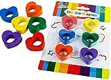 Set of 6 Heart Shaped Non Toxic Wax Cray...