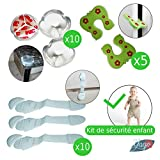 KIT DE SECURITE BEBE YAGO_ 25 pièces_10 x coins de table_10 x serrures...
