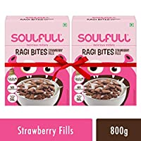 Soulfull Ragi Bites, Strawberry Fills Super Saver Pack- No Maida, High Calcium, 500g