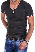 MT Styles Deep V-Neck T-Shirt BS-530