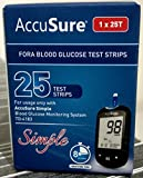 #7: Accusure Simpal Test Strips, 25 Strips (Only Strips)