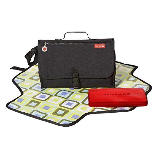 Skip Hop Pronto - Bolso para pañales convertible en cambiador, color negro