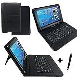 Qwertz Tastatur Tasche für 10.1 Zoll-Quad-Core-Tablet PC 'Kappa' - Aller Sieger A33 CPU mit Standfunktion - Deutsche Tastenbelegung 10 Zoll