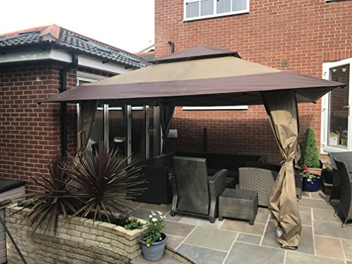 Got it Covered Huge 4m x 4m Stunning Gazebo Waterproof Canoy With Carry Case On Wheels 2