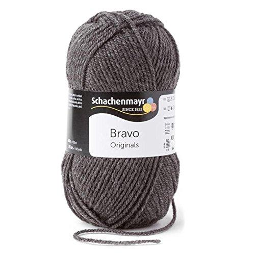 Schachenmayr  Bravo 9801211-08319 mittelgraumeliert Handstrickgarn, Häkelgarn (Stricken Wolle)