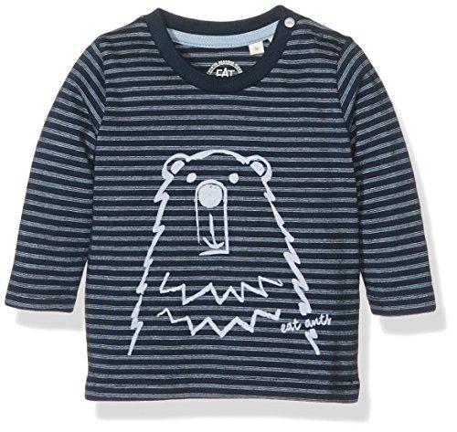 Sanetta Baby-Jungen Langarmshirts 113750, Blau (Pacific Blue 50178), 74
