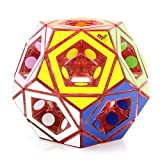 TTXLY Speed   Cube Hollow Five Magic Square (No. 2) Edición Limitada Fondo Rojo Transparente Oblicuo Giro Colección Shape Treasure Magic Cube