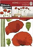 1art1 49924 Blumen - Mohnblumen, La Cocotte Wand-Tatoos Aufkleber Poster-Sticker 70 x 50 cm