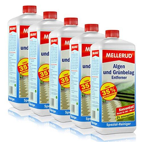 5 x 2 Liter Mellerud 2001001926 Algen- und Grünbelagentferner